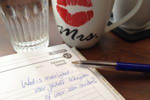 Schrijven voor jezelf of een ander moeilijker
